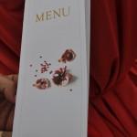 Impresión y diseño de menú para Bodas,